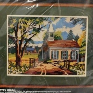 Vintage 1984 Dimensions Needlepoint Kit Country Ch